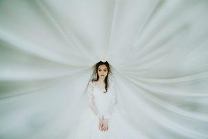 toczek ślubny